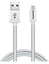 ADATA Kabel USB-microUSB 1m Silver alu-knit (AMUCAL-100CMK-CSV)