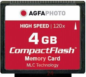 AgfaPhoto Compact Flash 4GB High Speed 120x MLC (10432)