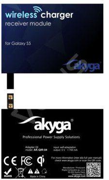 Akyga ADAPTER QI GALAXY S5 2 PIN AK-QIR-04