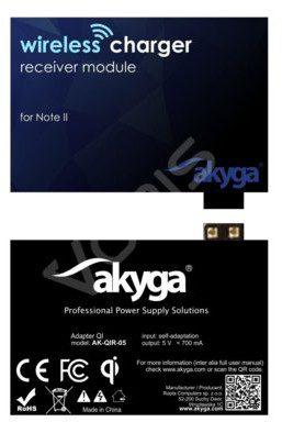 Akyga ADAPTER QI NOTE 2 2 PIN AK-QIR-05