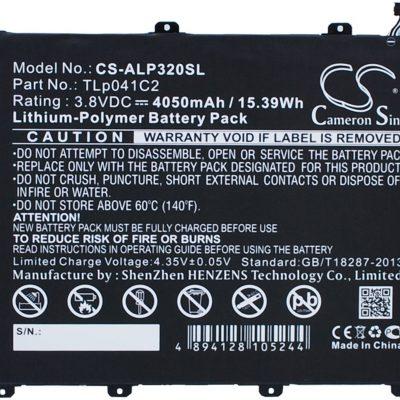 Alcatel One Touch POP 8 / TLp041C2 4050mAh 15.39Wh Li-Polymer 3.8V (Cameron Sino