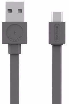 Allocacoc allocacoc USBcable microUSB Flat - szary PC_10452GY_USBMBC