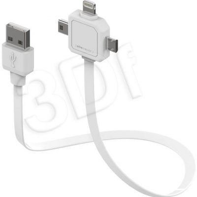 allocacoc Kabel allocacoc Power USBcable 9002/UC80CN (kolor biały) 9002/UC80CN