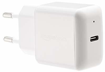 AmazonBasics ładowarka USB-C do telefonu, 15 W, 1 przyłącza, biała