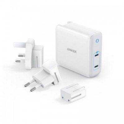 Anker PowerPort III 2x USB-C 60W Ładowarka + adaptery A2629H21