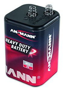 ANSMANN Ansmann 15000003Cynkowo-Węglowe bateria 4R25Czarny 1500-0003