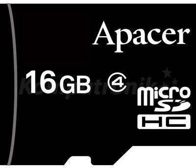 Apacer microSDHC 16GB (AP16GMCSH4-RA)