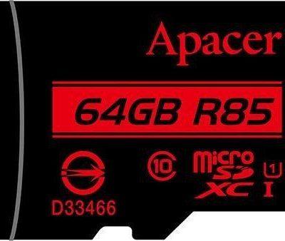 Apacer microSDXC 64GB + adapter (AP64GMCSX10U5-R)