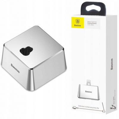 Apple Baseus Aluminiowa Stacja Lightning | Srebrna