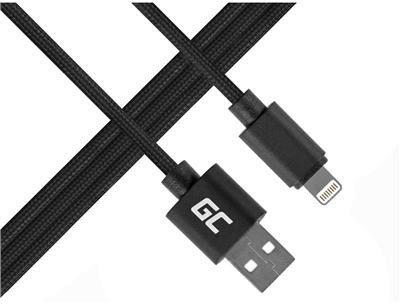Apple Green Cell Kabel Green Cell Lightning-USB do iPhone iPad Nylon 1m KKG4KKBU0060