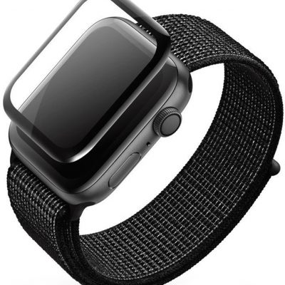 Apple High Five High Five 3D Black Full Glue Screen Protector - Szkło ochronne do zegarka Watch 44mm HI51001