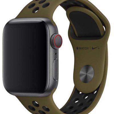Apple pasek sportowy Nike w kolorze oliwkowym/czarnym do koperty 40 mm MTMV2ZM/A