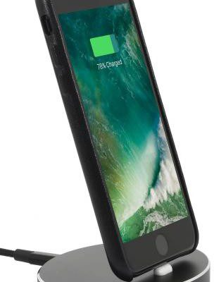 Apple StilGut Stacja dokująca Dock iPhone 5/5s/SE/6/6s/6 plus/6s plus/7/7 plus, oval, black - B01M5GC1YD