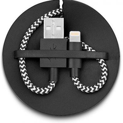 Apple usbepower USBEPOWER - FAB 120 kabel do szybkiego ładowania i synchronizacji tekstyliów avec enrouleur 1,2 m USBE_FAB_120_L_BLK_BI