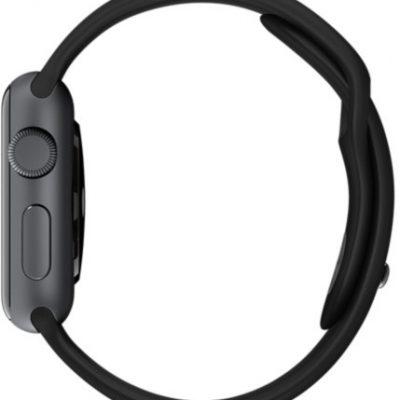 Apple Watch 38 mm Stal / Pasek sportowy / Czarny (MP022MP/A)
