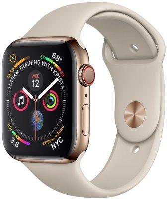 Apple Watch 4 44mm Cellular Złoty/Piaskowy pasek sportowy (MTX42WB/A)