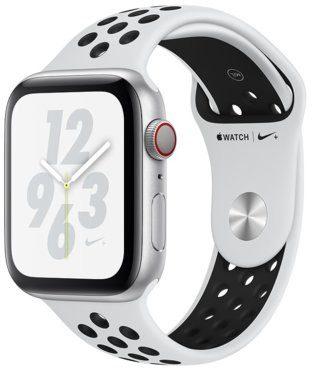 Apple Watch 4 Nike+ Cellular 44mm Srebrny/ Pasek sportowy w kolorze czystej platyny (MTXK2WB/A)