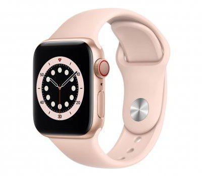 Apple Watch 6 40/Gold Aluminium/Pink Sport LTE