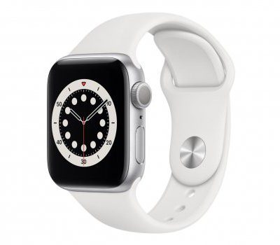 Apple Watch 6 40/Silver Aluminium/White Sport GPS