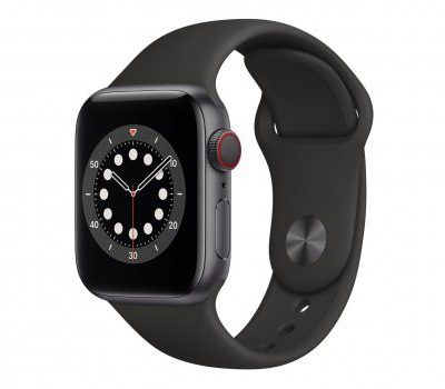 Apple Watch 6 40/Space Gray Aluminium/Black Sport LTE