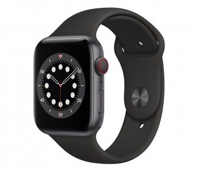 Apple Watch 6 44/Space Gray Aluminium/Black Sport LTE