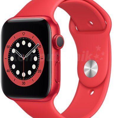 Apple Watch 6 GPS 44mm aluminium, PRODUCT(RED) pasek sportowy