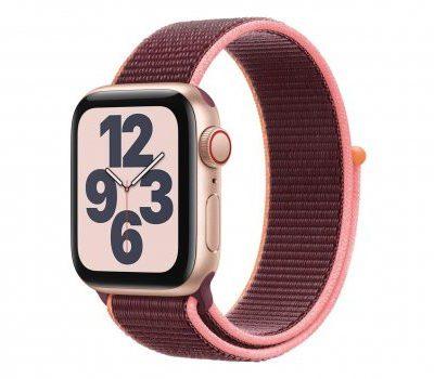 Apple Watch SE 40/Gold Aluminium/Plum Sport Loop LTE