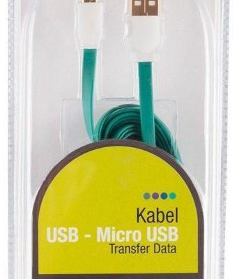ARKAS Kabel USB Micro USB 3 m MBFL-30 GREEN
