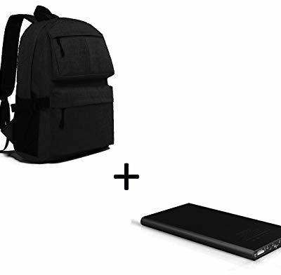 Asus Shot Case Zestaw do smartfona Zenfone Max Pro (M2) (płaski akumulator 6000 mAh, 2 porty + plecak z wbudowaną wtyczką USB) (czarny)