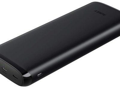 Aukey Bateria PB-Y23 Power Bank 20,000 mAh 18W, Czarna 608119198023