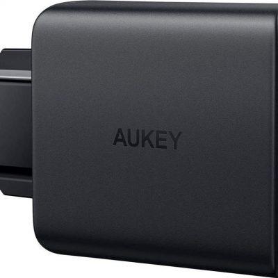 Aukey Ładowarka PA-D5 GaN ładowarka sieciowa 2xUSB C Power Delivery 3.0 63W 6A Dynamic Detect PA-D5