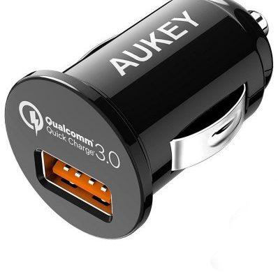 Aukey Ładowarka samochodowa CC-T13 (USB; kolor czarny)