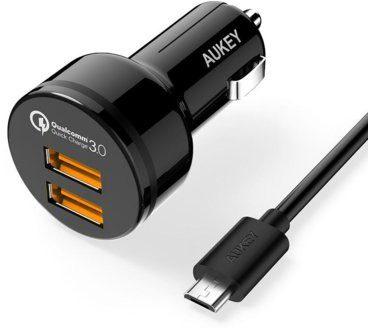 Aukey Ładowarka samochodowa CC-T8 2x USB 3.0