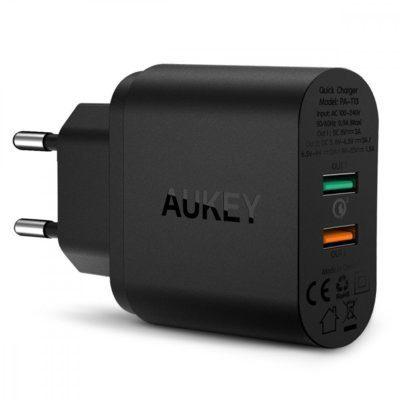 Aukey PA-T13 ultraszybka ładowarka sieciowa 2xUSB Quick Charge 3.0 6A 34.5W PA-T13