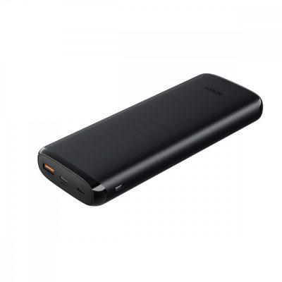 Aukey PB-Y23 Black ultraszybki Power Bank | 20000 mAh | 4xUSB | Quick Charge 3.0 | Power Delivery | Kabel USB-C | Etui