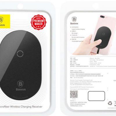 Baseus adapter QI cewka indukcja micro USB black WXTE-C01