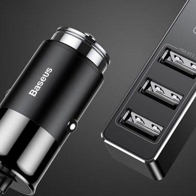 Baseus Baseus ładowarka samochodowa Quick Charge QC 4x USB 5.5A black 3672