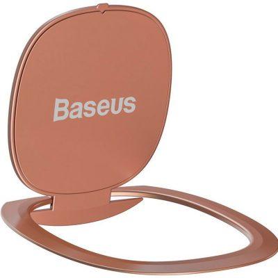 Baseus Baseus ultracienki samoprzylepny uchwyt ring podstawka do telefonu różowy (SUYB-0R) - Różowy SUYB-0R