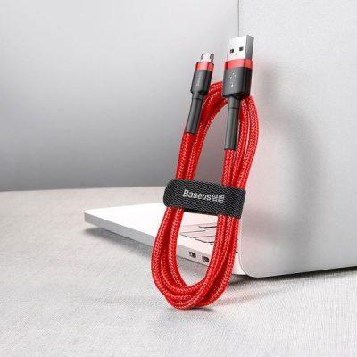 Baseus Cafule | Kabel USB - Micro-USB dwustronny Quick Charge 2.4A 100cm | czerwony CAMKLF-B09