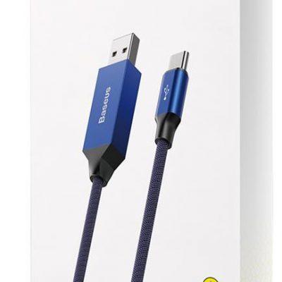 Baseus kabel Artistic (typ-c | 5m) 3A niebieski