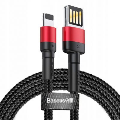 Baseus Kabel cafule CALKLF-H91 USB Lightning 2m kolor czarno-czerwony