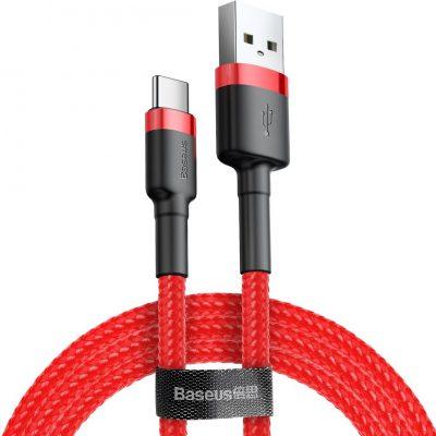 Baseus kabel Cafule (typu C | 0,5 m) czerwony 3A