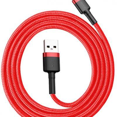 Baseus kabel Cafule (typu C | 1 m) czerwony 3A
