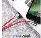 Baseus Kabel CALMVP-D09 USB 2.0 typu A M Lightning M 1m kolor czerwony