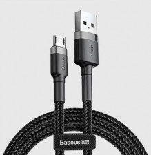 Baseus Kabel CAMKLF-AG1 (USB M - Micro USB M; 0,50m; kolor szary)