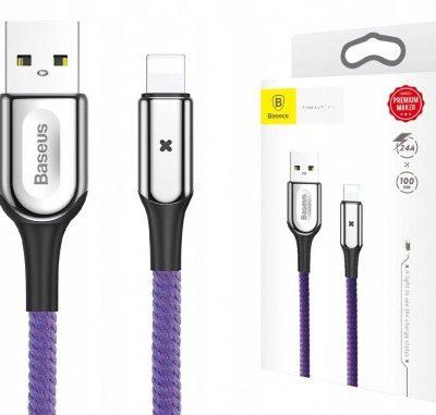 Baseus Kabel Lightning 2.4A 1M Purple CALXD-B05 1573-74475_20181011143654