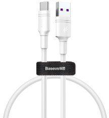 Baseus Kabel USB-C Typ-C 1m 5A biały