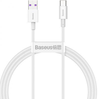 Baseus Kabel USB do USB-C Superior Series, 66W, 1m (biały)