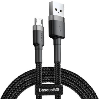 Baseus Kabel USB - Micro USB Cafule CAMKLF-CG1 2 m Szaro-czarny