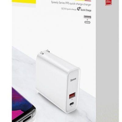 Baseus ładowarka sieciowa PPS QC USB + PD 30W biała CCFS-C02